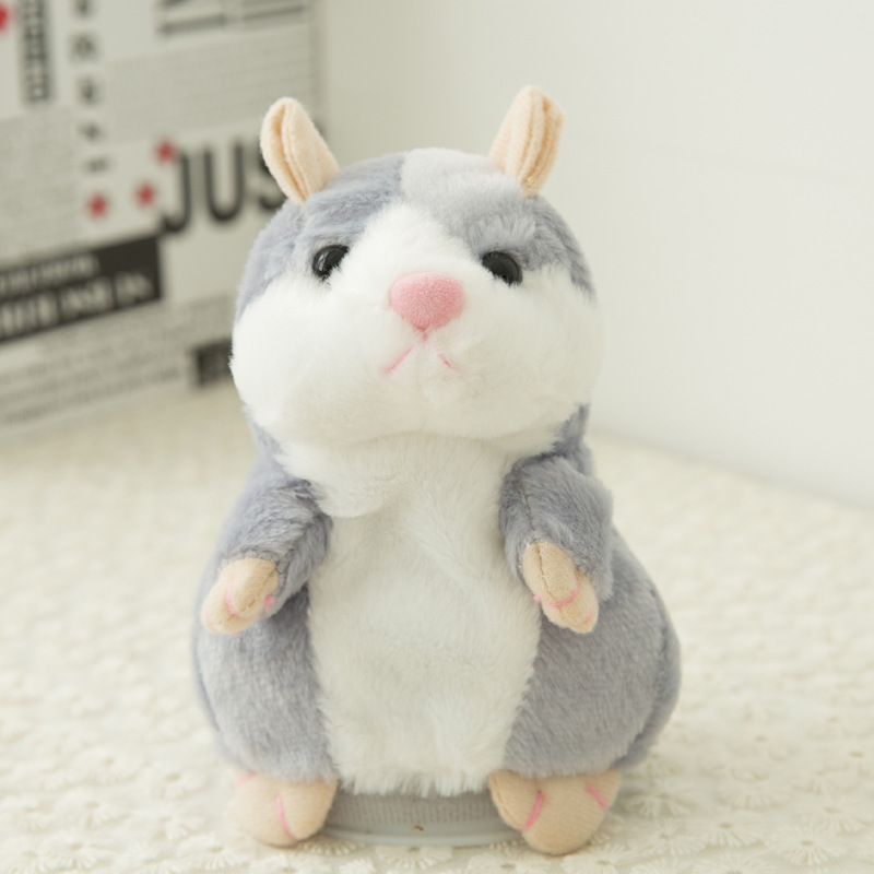 2018 Popular Good Quality Talking Hamster Pet Plush Toy Repeat What You Say Educational Toy for Children Birthday Gift 1pc in Movies TV from Toys Hobbies
