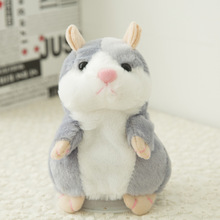 2018 Popular Good Quality Talking Hamster Pet Plush Toy Repeat What You Say Educational for Children Birthday Gift 1pc