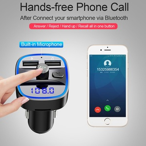 Image 5 - Bluetooth 5.0 car mp3 music player FM receiver transmitter Dual USB car quicky charger U disk / TF card lossless music player