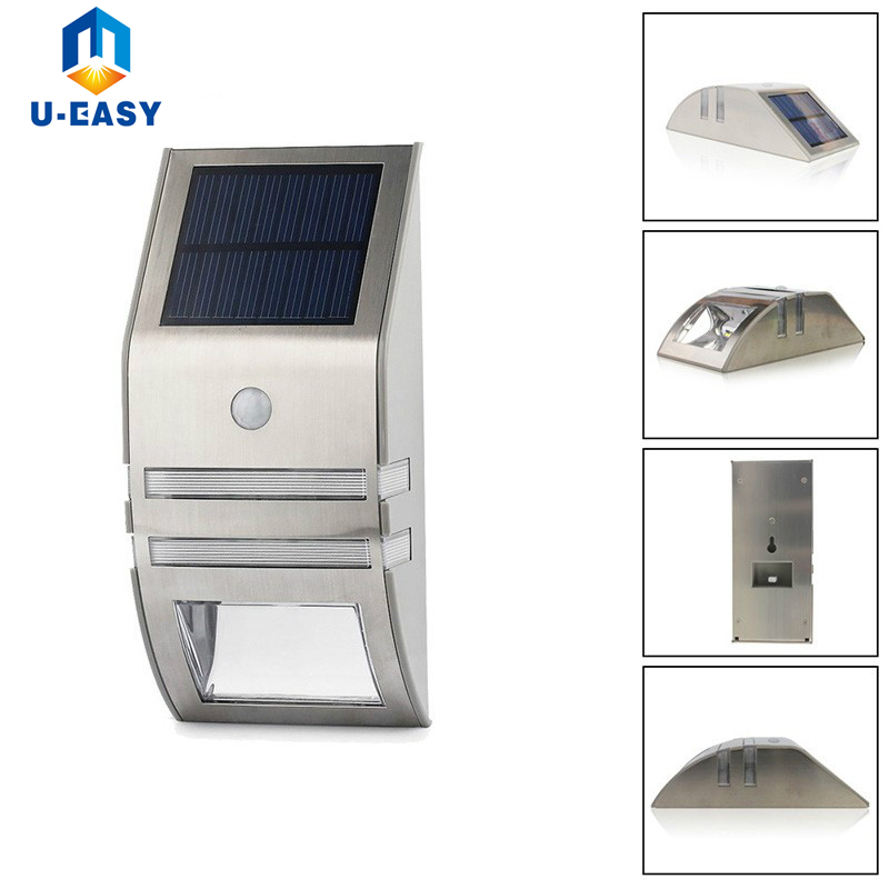 U EASY New LED Solar Sensor Light PIR Motion Sensor Solar Powered Pathway Lamp Outdoor Security