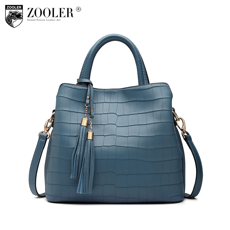 !!ZOOLER brand2017 woman leather bag luxury handbags women bags designer shoulder messenger bag elegant tote bolsa feminina#V101 luxury handbags women chain messenger bag lipstick lock designer woman black