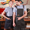 New Denim Cowboy Apron Pocket BBQ Senior Jeans Baking Bib Kitchen Half Apron For Women Men