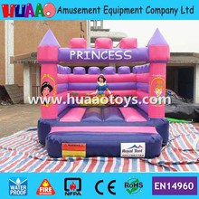 Free shipping Princess inflatable bouncer castle with free CE blower and repair kit