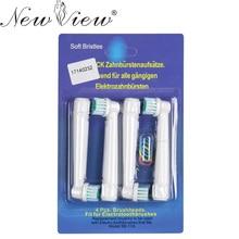 4 Шт./лот Электрическая Зубная Щетка Глав Замена Для Oral B Гигиены Уход Чистый Электрическая Зубная Щетка EB 17 SB-17A