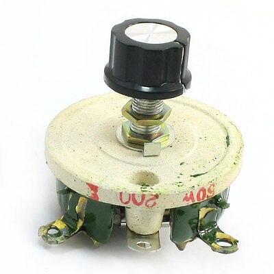 Wirewound Ceramic Potentiometer Variable Rheostat Resistor 50W 200 Ohm wirewound ceramic potentiometer adjustable rheostat resistor 50w 1r 2r 5r 10r 20r 30r 50r 100r 200r 300r 500r 1kr 2kr 3kr
