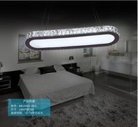 AC100 240V L65*W18cm 35W three color temperature LED crystal pendant lights SMD light source pendentes e lustres lamp fixture