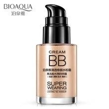 BIOAQUA Super Wearing BB Cream  Concealer Long Lasting No Makeup Waterproof Moisturizing Brighten Foundation Natural Beauty