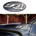 3D Z71 4x4 Pegatina Adhesivo Emblema de la Insignia de Plata Negro Rojo Para Chevrolet Silverado Chevy Silverado GMC Sierra ABS plástico