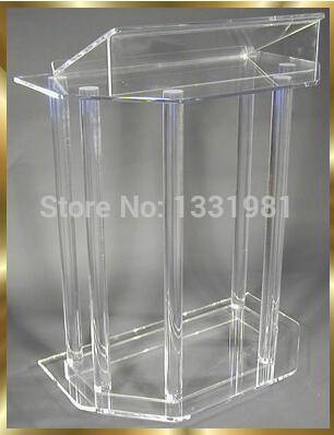 Free Shipping Custom Acrylic Lectern Plexiglass Pulpit Modern Acrylic Pulpit Lectern Wholesale Church Lectern
