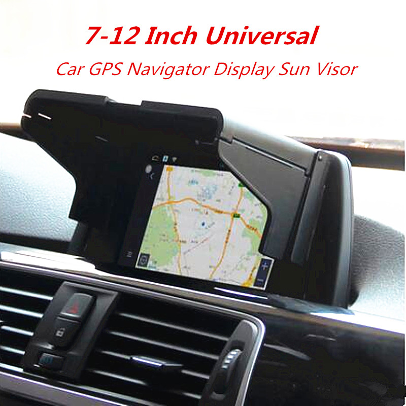 7-12 Inch Car GPS Navigator Sun Visor Sunshade Screen Hood Visor Display Universal Type Light Barrier