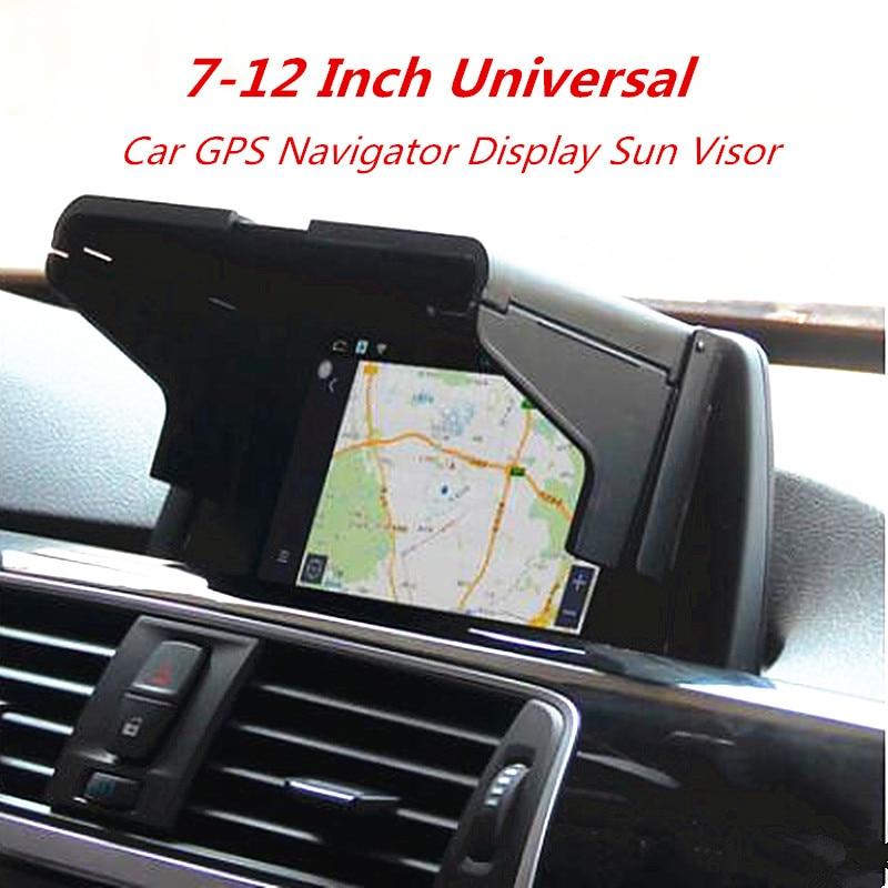 7-12 Inch Car GPS Navigator Sun Visor Sunshade Screen Hood Visor Display Universal Type Light Barrier
