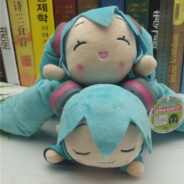 Anime VOCALOID Hatsune Miku 2 styles smile and sleep Soft Stuffed Dolls Cute Plush Toys Kids Christmas Gift AP0417