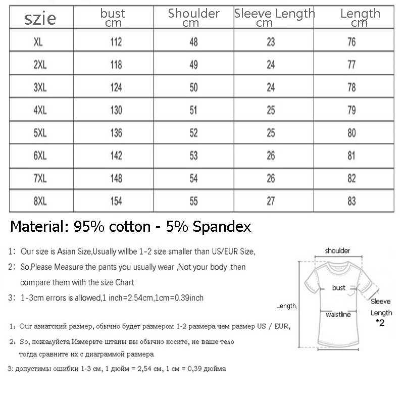 Gersri أزياء الرجال القمصان الصيف قطنية عالية الجودة تيز ملابس رجالي قصيرة الأكمام عارضة س الرقبة فضفاض XL-8XL التي شيرت أسود اللون