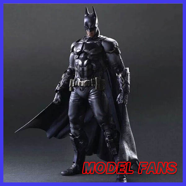 MODEL FANS BATMAN ARKHAM KNIGHT PLAY ARTS KAI 27cm PVC Action Figure Toys Gift Model playarts kai batman arkham knight batman blue limited ver superhero pvc action figure collectible model boy s favorite toy 28cm