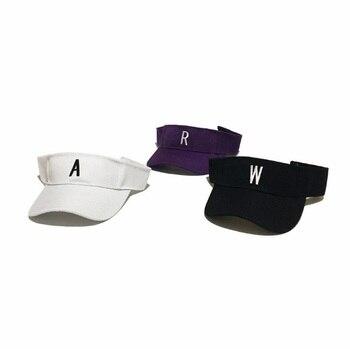 150cc337347ef 2018 verano Unisex algodón sombrero superior vacío ajuste visera sombrero  bordado cartas deporte playa