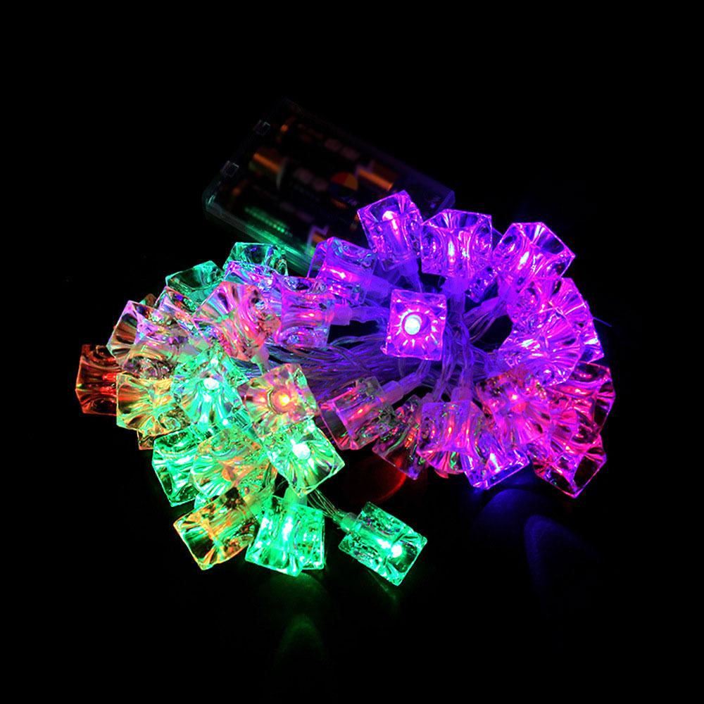 40LED Battery Control Ice Cubes String Light Wedding
