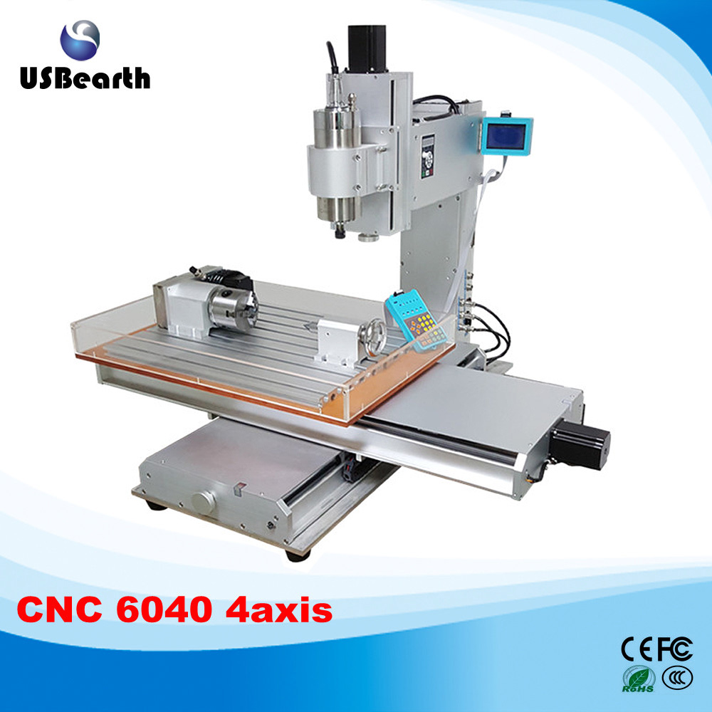 4 axis CNC machine 6040 with high performance 1.5kw cnc milling machine with water sink , Russia free tax full copper lamps and lanterns of american meals hanging lamp act the role ofing porch corridor lamp
