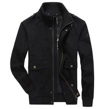 Men Clothes 2018 jaqueta masculina Autumn Military Jacket Black Khaki Army Stand Collar Brand AFS JEEP Bomber Jacket Men