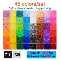 DOLLRYGA 2.6mm hama beads 28000pcs/set 48 colors Perler Diy Puzzle High Quality juguetes Girls Gift Kids Craft Toys for Children