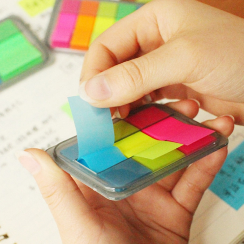 Self Adhesive Fluorescence colour Memo Pad Sticky Note Bookmark Point It Marker Memo Sticker Paper Office School Supplies New