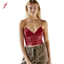 c2f64e6d1c377 Feitong Women Lace Floral Sheer Tank Tops Camis Summer Lady V-Neck  Sleeveless Bralette Crop