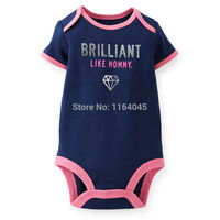 ST1-008,Original,Just Arrived,  Baby Boys and Girls 1-Piece Short Sleeve Bodysuit, Soft Feeling, Free Shipping