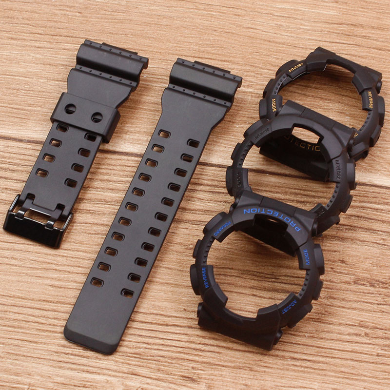 Watch Accessories Applicable To For Casio G-SHOCK Strap GD120 GA-110 Resin Strap Case Men's Rubber Strap Case