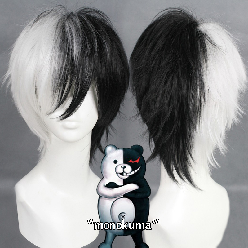 Danganronpa: Trigger Happy Havoc Monokuma Cosplay Wig Free Shipping for Halloween and Christmas