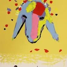 Toptan Satis Canvas Hand Painting Oil Sheep Dusuk Fiyatla Satin