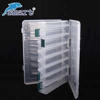 Caja De aparejos De Pesca a prueba De agua De doble cara 12 compartimentos cajas señuelo De Pesca Caja De Pesca accesorios De maleta separada