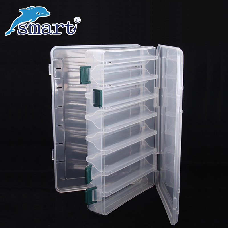 Impermeabile Fishing Tackle Box Double Sided 12 Scomparti Fishing Lure Box Caja Pesca Accessori Seperate Suitcase De Peche