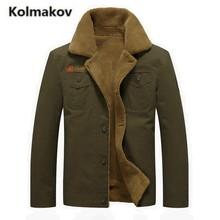 KOLMAKOV 2017 new winter high quality Men's Mauri warm jacket coats,turn-down collar parkas casual Cotton coat men,size M-4XL