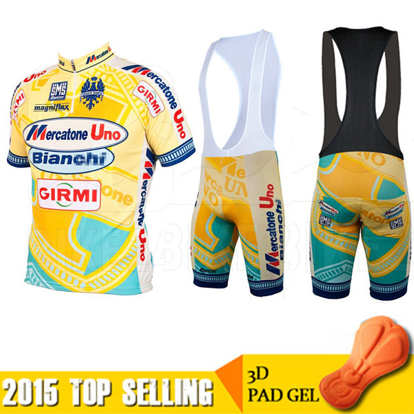 SUMMER new 2015 Santini Team Mercatone Uno Short Sleeve Cycling Jersey  Bicycle Bicicletas Mountain Bike MTB Ropa Ciclismo Sets fa196908a