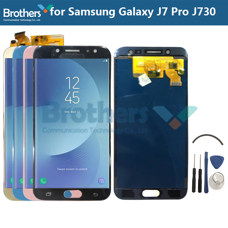 <font><b>LCD</b></font> Display For Samsung Galaxy <font><b>J7</b></font> <font><b>Pro</b></font> J730 <font><b>LCD</b></font> <font><b>Screen</b></font> for Samsung <font><b>J7</b></font> J730 <font><b>LCD</b></font> Assembly Touch <font><b>Screen</b></font> Digitizer Tested <font><b>Replacement</b></font> image