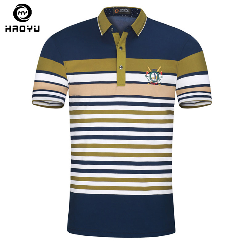 Fashion New Brand Men's   Polo   Shirt For Men British   Polos   Cotton Men Short Sleeve Shirt Jerseys Plus Size Haoyu Famous Brand