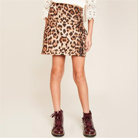 Big Babies Leopard Skirts Teenager Fashion Winter Skirts Junior Casual Skirts 2018 Kids Clothing Baby Clothes