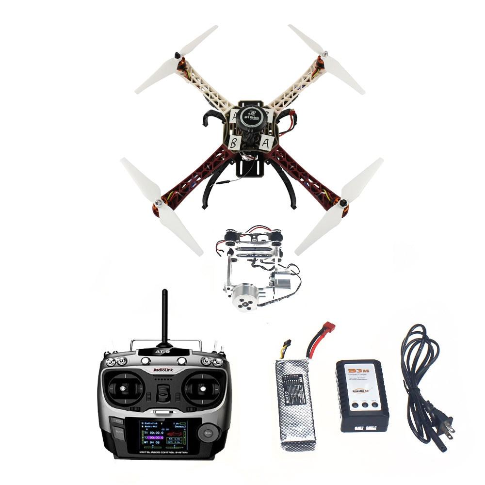 F02192-U JMT Assembled HJ 450 450F 4-Aix RFT Full Kit with APM 2.8 Flight Controller GPS Compass & Gimbal FS assembled cdrom controller kit with display remote control 0508 4