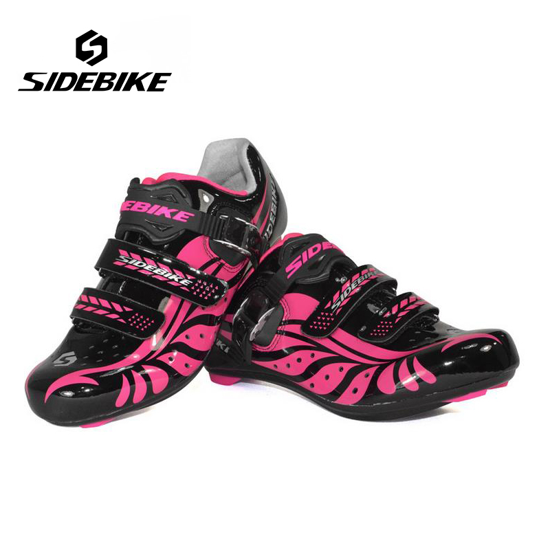Sidebike Women Road Cycling Shoes Outdoor Sport Bicycle Sneaker Self-Locking Bike Racing Athletic Zapatillas Ciclismo Bicicleta sidebike mens road cycling shoes breathable road bicycle bike shoes black green 4 color self locking zapatillas ciclismo 2016