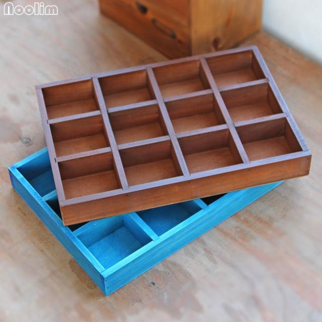 NOOLIM Vintage Retro Storage Box Wooden Box Durable Cosmetic Box