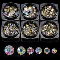 F Lashes Silver Clear Glass Crystal Rhinestones Mix Sizes Nail Art Stones Strass Foil Back Diamonds