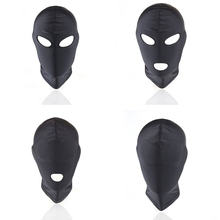 Good Quality Sex Toys Morease 4 Styles Fetish Unisex BDSM Hood Mask Black Mouth Eye Slave