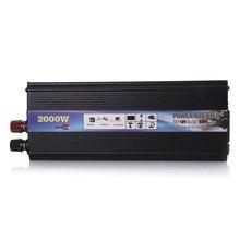 Car Power Inverter DC 12 V AC 220 V 2000 W USB Adapter Converter Car Pojazd Zasilania Przetwornicy przełącznik Na pokładzie Ładowarka