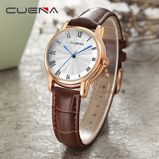 CUENA Ladies Watches Top Brand Luxury Women Quartz Watch Fashion Casual Wristwat