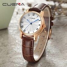 19019daf28d CUENA Senhoras Relógios Top Marca de Luxo Mulheres Relógio de Quartzo Moda  Casual Relógios de Pulso