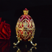 QIFU New Arrive Colourful Easter Faberge Egg Trinket Box Home Decoration for Gift