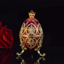 Qifu新到着カラフルなイースターファベルジェの卵小物ボックス家の装飾のためのギフト