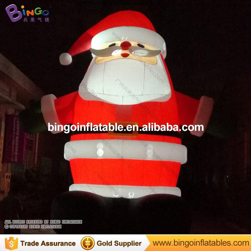 Vente chaude 6 m/20ft gonflable santa claus de noël géant en plein air santa avec led lumière pour la décoration De Noël