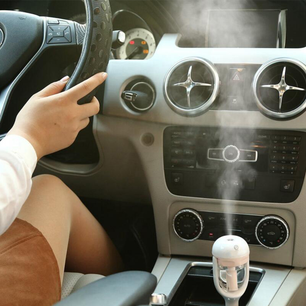 Car Air Freshener Space Humidifier Vehicle Purifier Aroma Diffuser Essential Oil Aromatherapy Mist Fogger