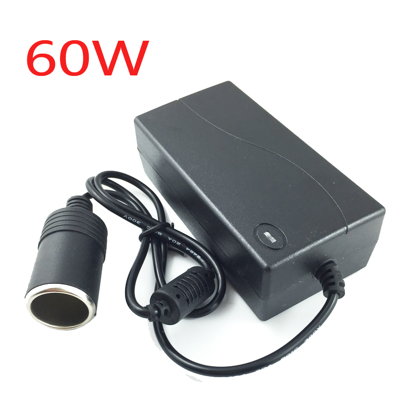 60W Car Cigarette lighter Socket Adapter Converter AC 110V 220v 240V Input to DC 12V 5A Output Home Use Car power