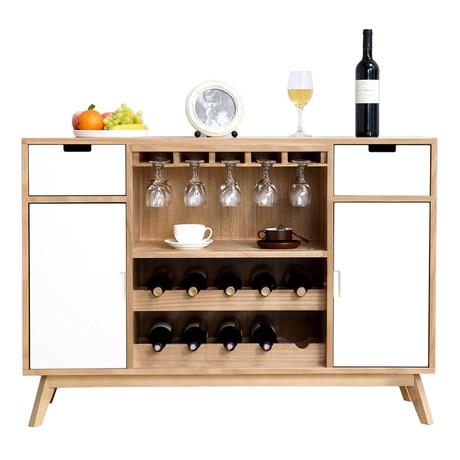 Us 1759 99 12 Off Sideboard Kitchen Storage Cabinet Solid Wood Nordic Wine Gl Aparador Mueble Cupboard Furniture 122 62 47cm In